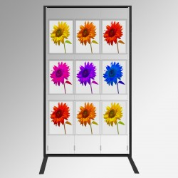 Display Panel Stand A3, Black (x9)