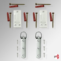 Heavy Duty Large Picture & Mirror 50kg Hanging Kit, Hook & D Ring Strap Hanger Set