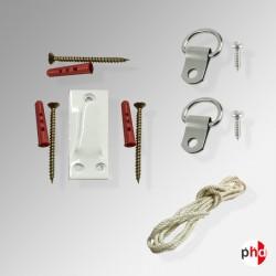 Heavy Duty Large Picture Frame 40kg Hanging Kit, Hook & D Ring Strap Hanger Set
