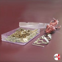 Picture & Mirror Frame Hanging Kit, 110 Pcs Picture Hook & Pins Assortment Inc. Screws, D Rings, Cord, Storage Box