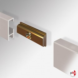 Straight Connector, for Clip Rail Picture Hanging Track (Installation Fitting)