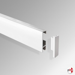 End Cap / Piece, for Clip Rail Picture Hanging Track (Installation Fitting)