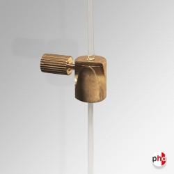 Cylinder Hook Brass (Pack of 10), 10kg Picture Hanger