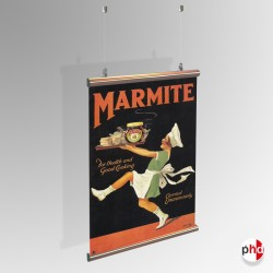 Suspended Poster Hanging Kit, Heavy Duty (for Aluminium Hangers)