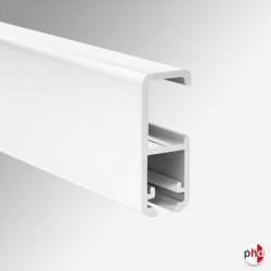Clip Rail Smart, 2m & 3m White Silver Black Track (Heavy Duty Picture Rail)