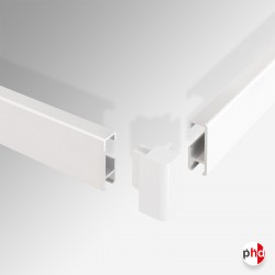Corner Connector, for Clip Rail Picture Hanging Track (Installation Fitting)