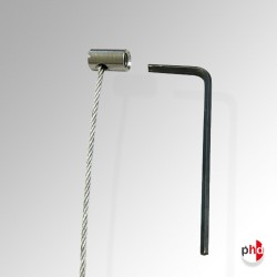 Barrel Anchor & Steel Cable, Strong Hanging Wire for Picture Rails & Moulding Hooks