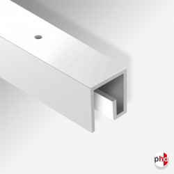 P Rail Track, 2m & 3m Strong & Discreet Ceiling Picture Rail (80kg Capacity)