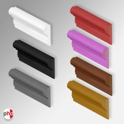 Colored Wood Picture Rail, Dado Moulding (White, Black, Silver, Red, Pink, Walnut, Gold Colors)