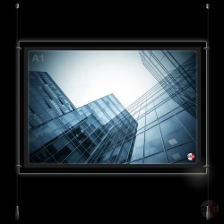 A1 LED Light Pocket, Ceiling to Floor Display Kit (Complete System)