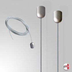 Ceiling Mounted Display Cable, Chrome Finishes (Ideal for Retail Advertising)