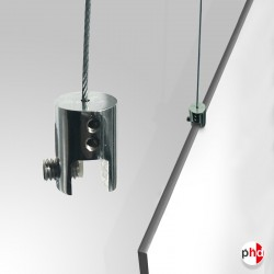 Ceiling Cable Panel Clamp, Chrome Finish (8MM Gripper)