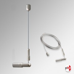 Ceiling to Wall Display Cables, Chrome Finish (Ideal for Advertising & Art Hanging)