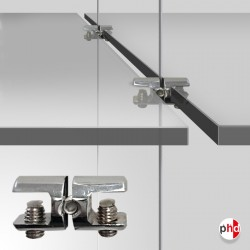 Cable Shelf Support Double, Chrome Finish (6MM 8MM 10MM Horizontal-grip)