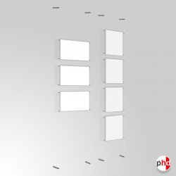 A4 Ready-made Clear Cord Set, Wall to Wall Fittings & Poster Pockets (Portrait & Landscape)