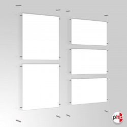 A1 Ready-made Clear Cord Set, Wall to Wall Fittings & Poster Pockets (Portrait & Landscape)