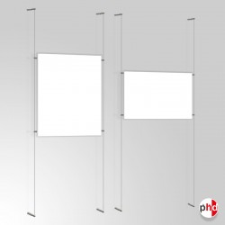 A0 Ready-made Cable Set, Wall to Wall Fittings & Poster Pockets (Portrait & Landscape)
