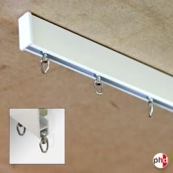 Modern Curtain Rings, Brass Rail Sliders (Light & Heavy Drapes)