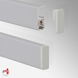 End Cap / Piece, for Clip Rail Lighting Track (Installation Fitting)