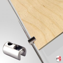 Rod Panel Support Clamp, Chrome Finish (10MM Vertical-grip)