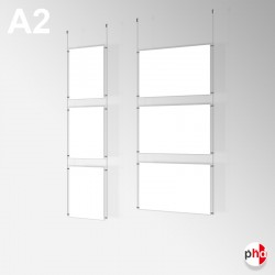 A2 Ready-made Rod Set, Ceiling Fittings & Poster Pockets (Portrait & Landscape)