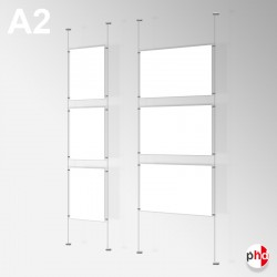 A2 Ready-made Rod Set, Wall Fittings & Poster Pockets (Portrait & Landscape)