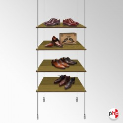 Retail Rod Display Wood Shelving Kit, Fittings Only (No Shelves Included)