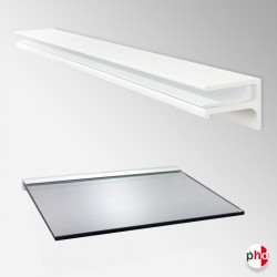 Floating Shelf Bracket 6mm & 8mm, All Surfaces (Glass Not Included)