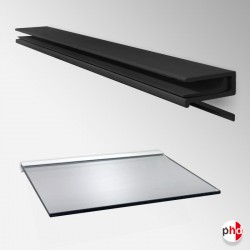 Floating Shelf Bracket 10mm & 12mm, All Surfaces (Glass Not Included)