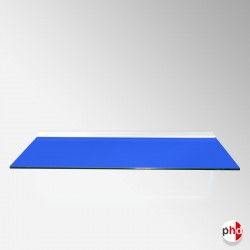 Blue Color Floating Glass Shelf, All Surfaces (6mm Shelving Board)