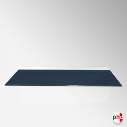 Blue Steel Color Floating Glass Shelf, All Surfaces (6mm Shelving Board)