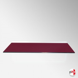 Claret Red Color Floating Glass Shelf, All Surfaces (6mm Shelving Board)