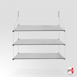 No Nails Glass Shelf, Triple (3x Safety Glass Included)
