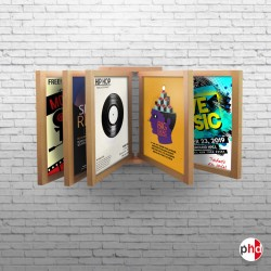 Wooden Wall Print Browser, Book Style Poster Display
