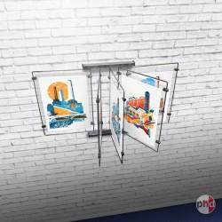Metal Wall Print Browser, Book Style Poster Display