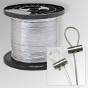 Hanging Wire Kits, Clear Cord & Cable Rope for Hanging Pictures Plants Ceramics