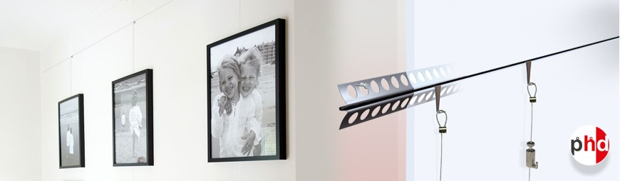 Plaster Rail 'Invisible' Gallery System, Ultra Discreet Picture Hanging