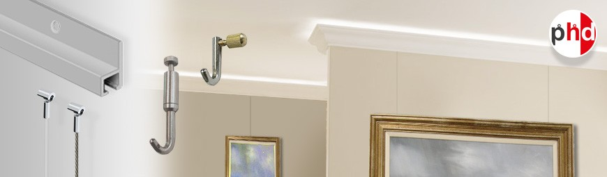Cornice Deco Gallery System, Hidden & Heavy Duty Picture Hanging
