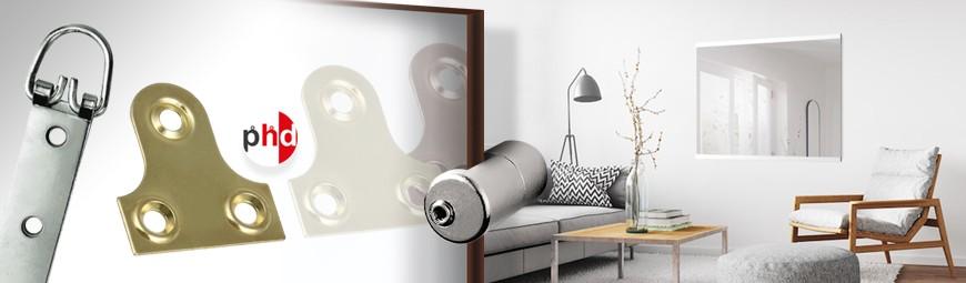 Mirror Hanging Kits, Brackets, Hooks & Rails