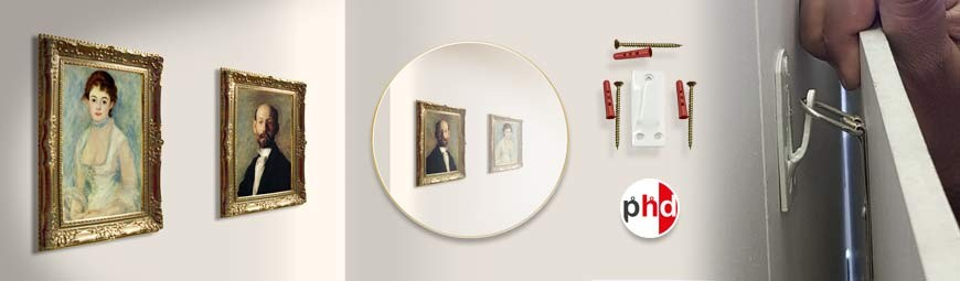 Heavy Picture & Mirrors Hanging Kits, Extra-Strong Hooks