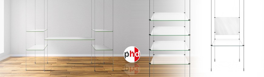 Retail Display Shelving (Glass & Wood)