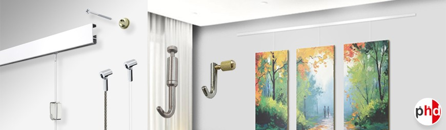 Clip Rail Gallery System, Modern Picture Hanging
