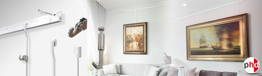 J Rail Gallery System, 80kg Heavy Duty Picture Hanging