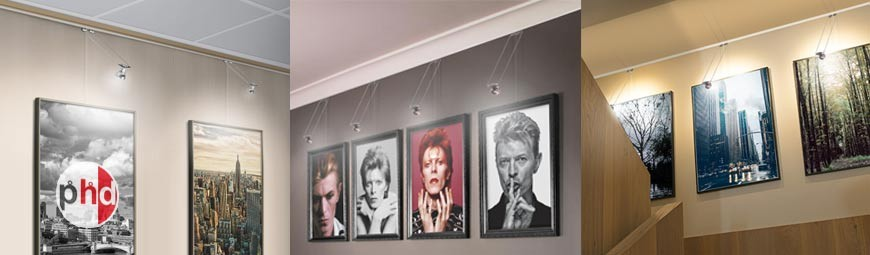 Art Gallery Hanging & Light Systems, Modern LED Picture Lighting